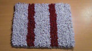 Вязание коврика на резиновой основе  Часть 1 из 6
