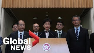 Carrie Lam says she cannot determine police operations in Hong Kong