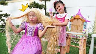 公主裝扮頭髮 !梳妝台給客人理发做造型~Beauty Saloon for Princess!