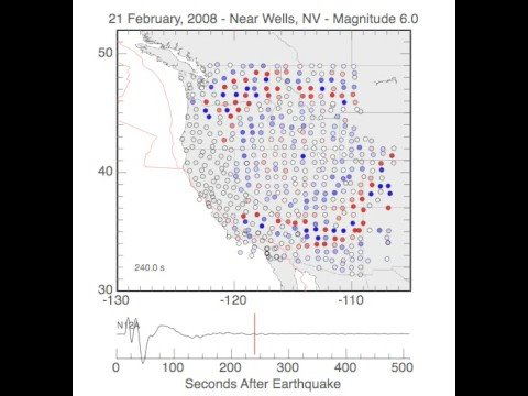 Earthquake Ground Motion Animation February 21, 2008 Nevada