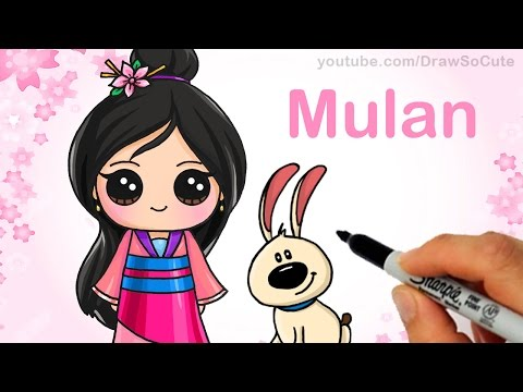 How to Draw Chibi Mulan step  step Cute Disney Princess