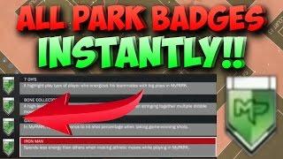 NBA 2K17 How to Get ALL PARK BADGES INSTANTLY!! Park Badges Tutorial