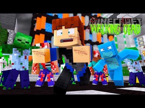 Minecraft THE WALKING DEAD - SHARKY'S SECRET PLAN TO TURN SCUBA STEVE INTO A ZOMBIE FOREVER!!