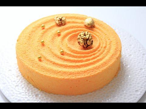 Муссовый апельсиновый торт, покрытый велюром / Mousse Orange Cake
