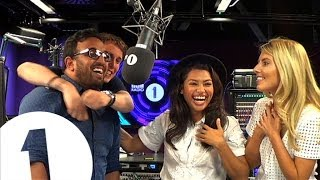 The Saturdays FLIRT outrageously with a normal guy - watch him squirm!