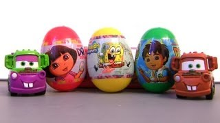Spongebob Squarepants TOY Surprise Dora the Explorer Easter Eggs Diego Mater Holiday Edition