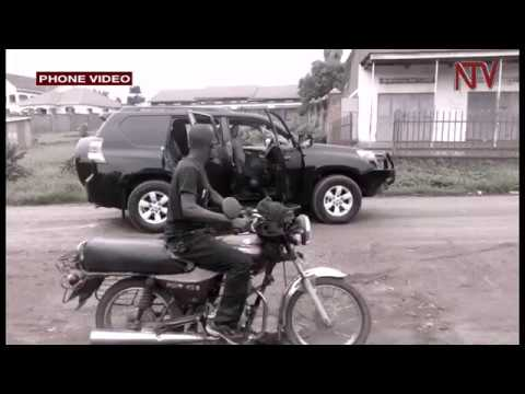 Footage from shortly after Felix Kaweesi, his bodyguard and driver were gunned down