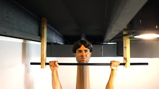 Man with The Longest Neck in The World Breaks Pull-Up World Record
