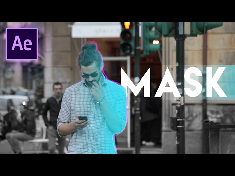 How to Mask Text Behind Objects + Flash Effect (Adobe After Effects CC Rotobrush Rotoscope Tutorial)