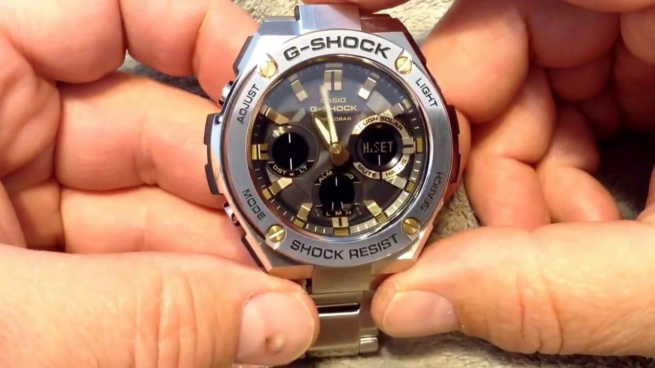 Synchronized The Time Between Analog Digital On G Shock Gsts110d 7710 1dr