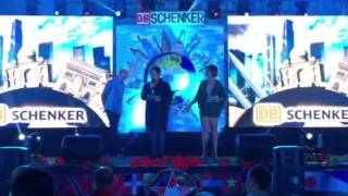Dj Tikoy Chiu and Dj Chiki hosting DB Schenker Christmas Party 2015