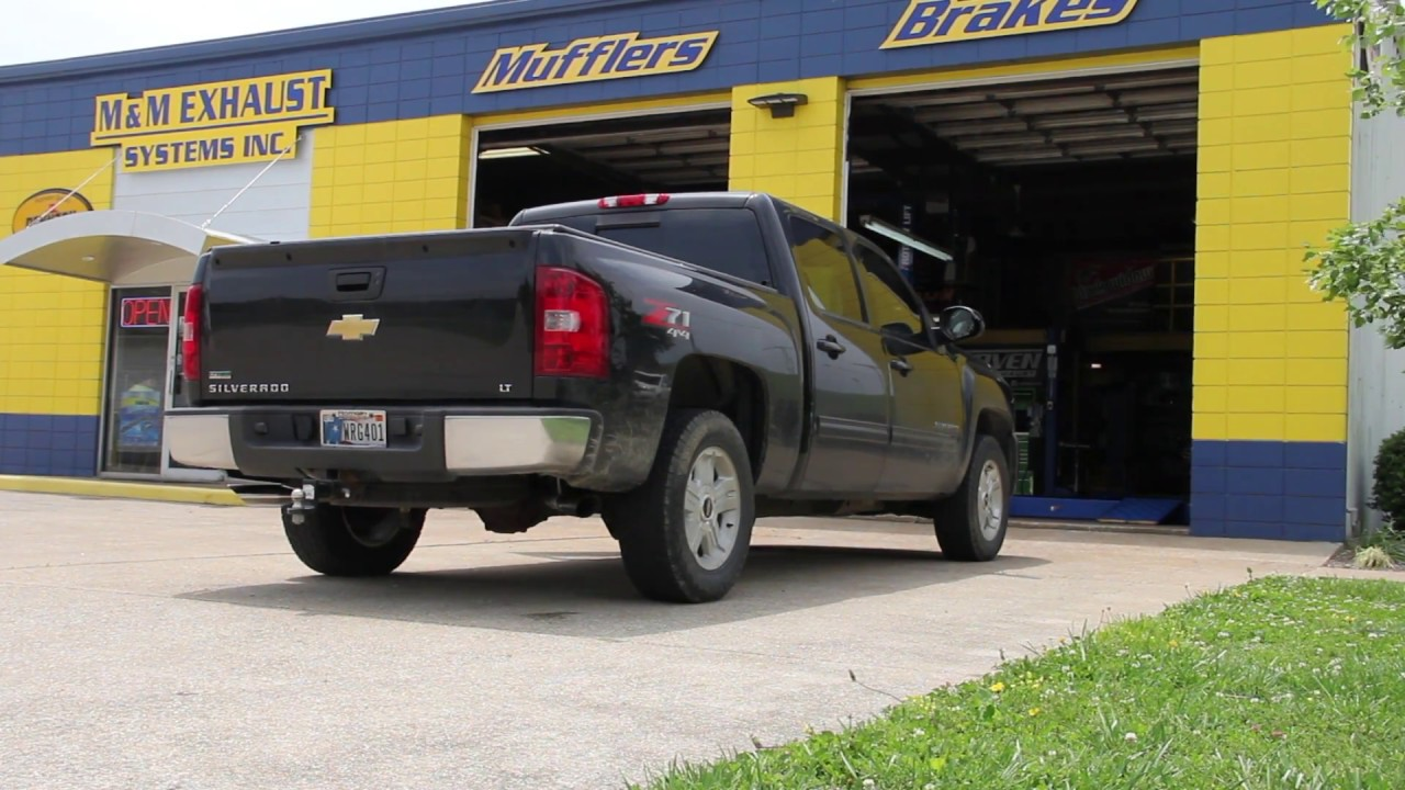 2010 Silverado Exhaust Black Widow Exhaust Youtube