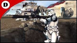 HUGE Clone Wars Military Base Defense - Men of War: Star Wars mod