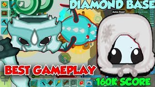 STARVE.IO - BEST GAMEPLAY - +160K SCORE + DRAGON GEAR WINTER PEASANT'S SCORE + DIAMOND BASE