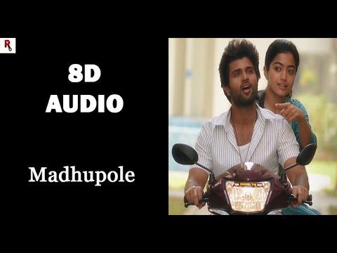 Madhupole   Full Song   8D Audio   Dear Comrade   Justin Prabhakaran   Whatsapp Status