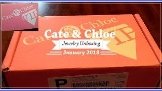 Best Jewelry Subscription Box with Free Gift?! | Cate & Chloe VIP January 2018 Unboxing & Review