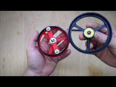 3D Printed Harmonic Drive / Strain Wave Gear Using Timing Belt