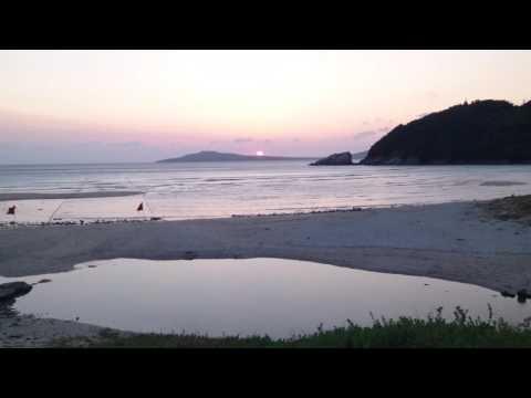 """Beautiful beaches in Japan"" Takahama beach in Fukue island on the east China sea([英字幕]福江島高浜)"