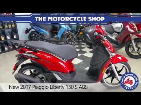 new 2017 piaggio liberty 150 s abs - youtube