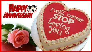 Happy Anniversary Cake Images WhatsApp Status||