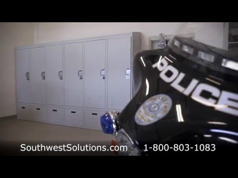 Ventilated Police Lockers Storing Officer Uniforms Gear Duty Bag Storage Law Enforcement