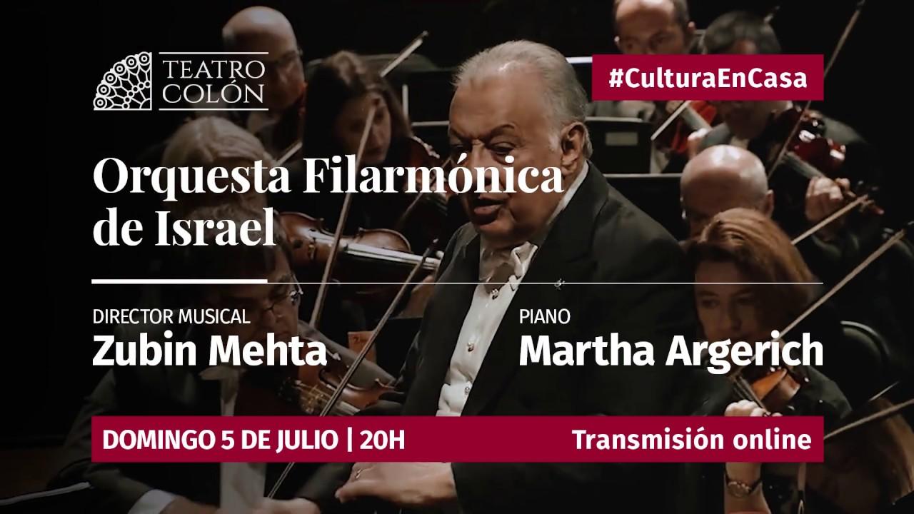 Transmisión de la Filarmónica de Israel con Martha Argerich y Zubin Mehta