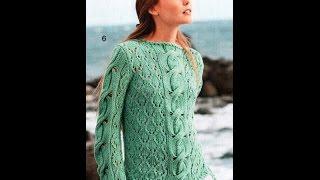 Вязание Спицами - Модели Джемперов для Женщин - 2019 / Knitting Sweaters For Women Models /Pullover