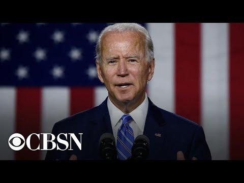 Joe Biden speaks in Wisconsin