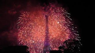 Feu d'artifice 14 Juillet 2016 Paris - Tour Eiffel - Bouquet Final