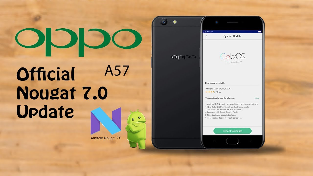 3c31f0e7efa26 Oppo A57 official Nougat android 7.0 update - YouTube
