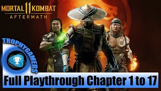 Mortal Kombat 11 Aftermath - Full Game Playthrough All Chapters 1 to 17 (All Cutscenes and Fights)