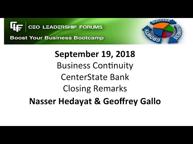 2018 09 19 CEO Leadership Closing Remarks