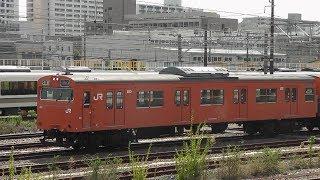 103系近モリLA04編成 森ノ宮電車区出庫