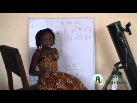 Ama Kambon learning Pre-Algebra in Akan (Twi): Solving for X