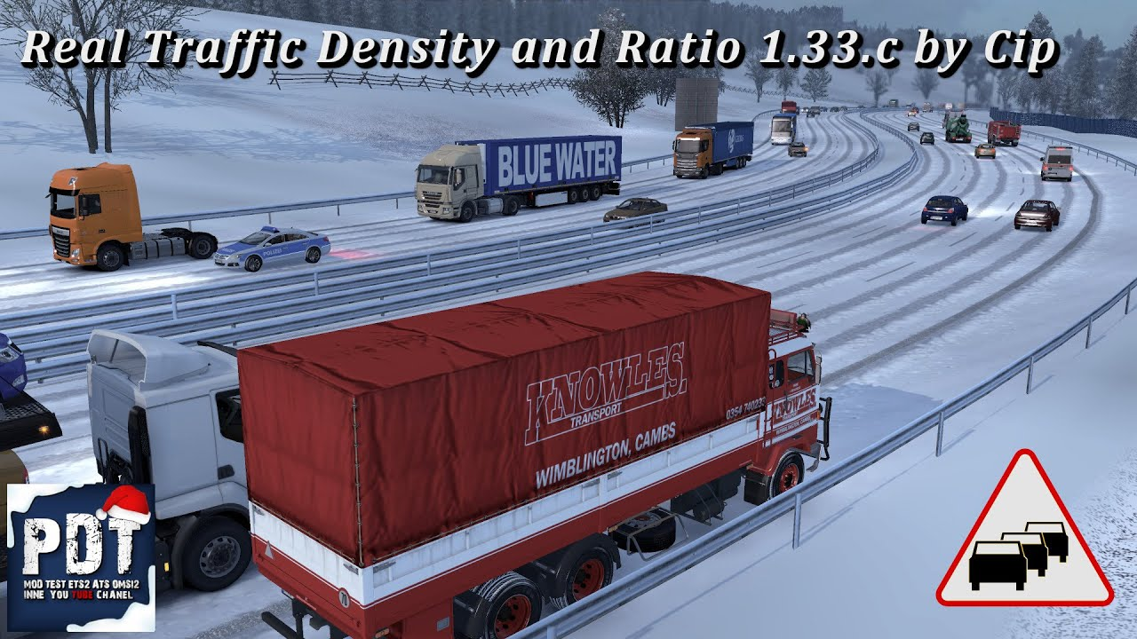 [ETS2  V1 33]   PDT   Real Traffic Density and Ratio 1 33 c by Cip