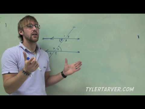 Geometry: 3-2 Angles formed by Parallel Lines and Transversals
