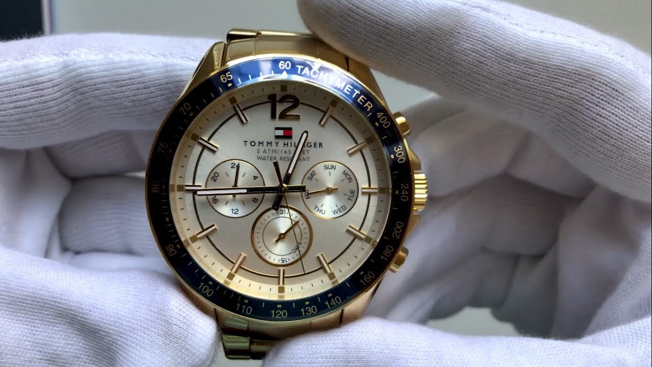 01cc3f6b Tommy Hilfiger Luke Gold / White Unboxing - YouTube