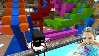 Аквапарк в мире Майнкрафт Катаемся на водных горках со Светой