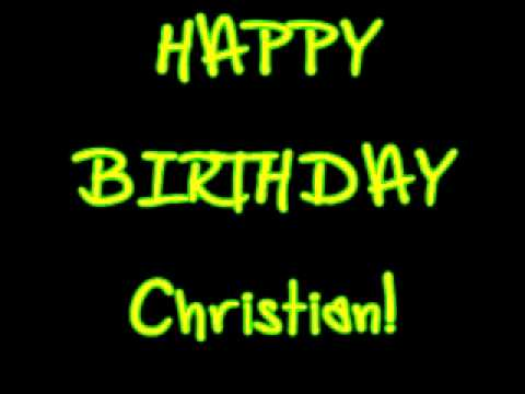 Happy Birthday Christian Beadles YouTube