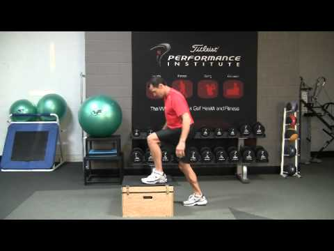 Golf Fitness Box Jumps Power Exercise