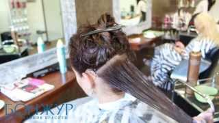 Бразильское выпрямление волос в салоне красоты