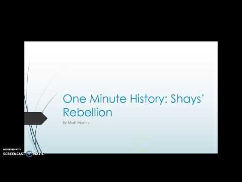 One Minute History: Shays