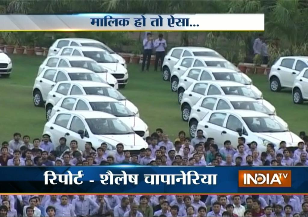 Diwali Gifts: Diamond Trader Gifts 491 Cars To Employees - India TV ...