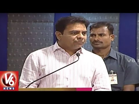 Minister KTR Speech | Launches Industrial Annual Report In Haritha Plaza | Hyderabad | V6 News