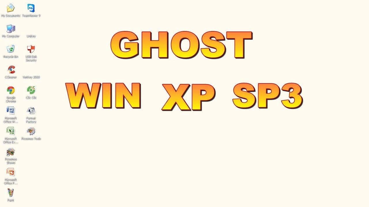 Cách GHOST win xp khi có bản ghost trong máy