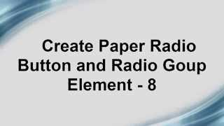 Free Phonegap + Android Material Design using Polymer -  Create Paper Radio and Radio Group - 8
