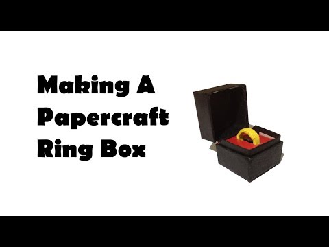 Making a Papercraft Ringbox
