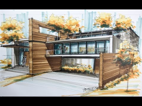 architecture sketch house 9
