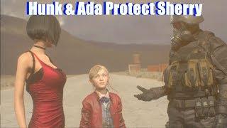RE2 Ada & Hunk Take Care Of Sherry (Model Swap Testing) - Resident Evil 2 Remake