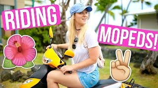 RIDING MOPEDS IN HAWAII + FLYING TO LA!!